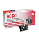ACCO BRANDS ACC72050 Medium Binder Clips, Steel Wire, 5/8