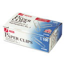 ACCO BRANDS ACC72360 Premium Paper Clips, Smooth, #1, Silver, 100/box, 10 Boxes/pack