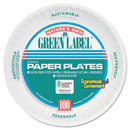 AJM Packaging AJMPP6AJKWH Uncoated Paper Plates, 6 Inches, White, Round, 1000/carton