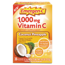 Emergen-C ALA130603 Immune Defense Drink Mix, Coconut Pineapple, 0.32 Oz Packet, 30/box
