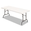 Alera ALE65602 Banquet Folding Table, Rectangular, Radius Edge, 60 X 30 X 29, Platinum/charcoal
