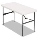 Alera ALE65603 Banquet Folding Table, Rectangular, Radius Edge, 48 X 24 X 29, Platinum/charcoal