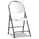 Alera ALEFR9402 Molded Resin Folding Chair, White/black Anthracite, 4/carton