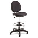 Alera ALEIN4611 Interval Series Swivel Task Stool, 100% Acrylic With Tone-On-Tone Pattern, Black