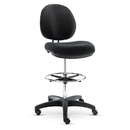 Alera ALEIN4616 Interval Series Swivel Task Stool, Pvc-Free Faux Leather, Black