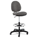 Alera ALEIN4641 Interval Series Swivel Task Stool, Tone-On-Tone Fabric, Graphite Gray