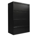 Alera ALELF3654BL Four-Drawer Lateral File Cabinet, 36w X 19-1/4d X 53-1/4h, Black