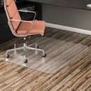 Alera CM2E442FALEPL All Day Use Non-Studded Chair Mat for Hard Floors, 46 x 60, Rectangular, Clear