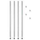 Alera ALESW59PO36SR Stackable Posts For Wire Shelving, 36
