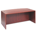 ALERA ALEVA227236MC Valencia Bow Front Desk Shell, 71w X 35 1/2d To 41 3/8d X 29 1/2h, Medium Cherry