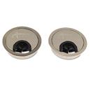 Alera ALEVA503333 Valencia Series Optional Grommets, 2-5/8 Diameter, Silver Metal, 2/pack