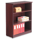 ALERA ALEVA634432MY Valencia Series Bookcase, Three-Shelf, 31 3/4w X 14d X 39 3/8h, Mahogany