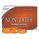 ALLIANCE RUBBER ALL37546 Non-Latex Rubber Bands, Sz. 54, Orange, Sizes 19/33/64 (mix), 1lb Box