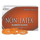 ALLIANCE RUBBER ALL37646 Non-Latex Rubber Bands, Sz. 64, Orange, 3 1/2 X 1/4, 380 Bands/1lb Box