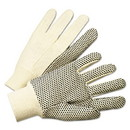 Anchor 781K PVC-Dotted Canvas Gloves, White, One Size Fits All, 12 Pairs