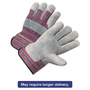 Anchor ANR2100 2000 Series Leather Palm Gloves, Gray/red, 12 Pairs