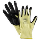 AnsellPro 103337 HyFlex 500 Light-Dty Gloves, Size 8, Kevlar/Nitrile, Yellow/Black, 12 Pairs