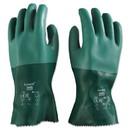 AnsellPro 103626 Scorpio Neoprene Gloves, Green, Size 10, 12 Pairs