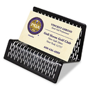 Artistic AOPART20001 Urban Collection Punched Metal Business Card Holder, Holds 50 2 X 3 1/2, Black