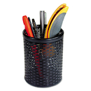 Artistic AOPART20005 Urban Collection Punched Metal Pencil Cup, 3 1/2 X 4 1/2, Black