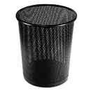 Artistic AOPART20017 Urban Collection Punched Metal Wastebin, 20.24 Oz, Steel, Black Satin, 9