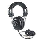 AMPLIVOX PORTABLE SOUND SYS. APLSL1002 Deluxe Stereo Headphones W/mono Volume Control, Black