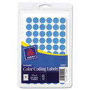 Avery AVE05050 Handwrite Only Removable Round Color-Coding Labels, 1/2