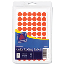 Avery AVE05051 Handwrite Only Removable Round Color-Coding Labels, 1/2