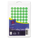 Avery AVE05052 Handwrite Only Removable Round Color-Coding Labels, 1/2