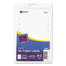 AVERY-DENNISON AVE05202 Print Or Write File Folder Labels, 11/16 X 3 7/16, White, 252/pack