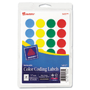 Avery AVE05472 Printable Removable Color-Coding Labels, 3/4
