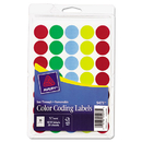 Avery AVE05473 See Through Removable Color Dots, 3/4 Dia, Assorted Colors, 1015/pack