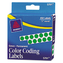 Avery AVE05791 Permanent Self-Adhesive Round Color-Coding Labels, 1/4