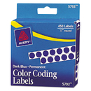 Avery AVE05793 Permanent Self-Adhesive Round Color-Coding Labels, 1/4