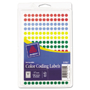 Avery AVE05795 Handwrite Only Removable Round Color-Coding Labels, 1/4
