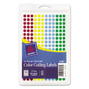 Avery AVE05796 See Through Removable Color Dots, 1/4 Dia, Assorted Colors, 864/pack