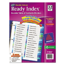 Avery AVE11322 Ready Index Customizable Table Of Contents Double Column Dividers, 32-Tab, Ltr