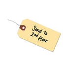 AVERY-DENNISON AVE12605 Double Wired Shipping Tags, 13pt. Stock, 4 3/4 X 2 3/8, Manila, 1,000/box