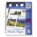 AVERY-DENNISON AVE13401 Photo Storage Pages For Six 4 X 6 Mixed Format Photos, 3-Hole Punched, 10/pack