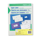 AVERY-DENNISON AVE30400 White Copier Labels, 1 X 2 13/16, 3300/box