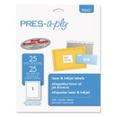 PRES-a-ply 30642 Labels, Inkjet/Laser Printers, 8.5 x 11, White, 25/Pack