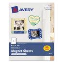 AVERY-DENNISON AVE3270 Printable Inkjet Magnet Sheets, 8 1/2 X 11, White, 5/pack