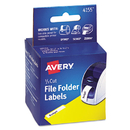 Avery AVE4155 Thermal Printer Labels, 1/3 Cut File Folder, White, 130/roll, 2 Rolls/box