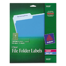 Avery AVE5029 Clear File Folder Labels, 1/3 Cut, 2/3 X 3 7/16, 450/pack