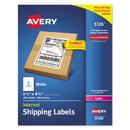 AVERY-DENNISON AVE5126 Shipping Labels W/ultrahold Ad & Trueblock, Laser, 5 1/2 X 8 1/2, White, 200/box