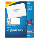 AVERY-DENNISON AVE5352 Copier Mailing Labels, 2 X 4 1/4, White, 1000/box