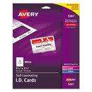 AVERY-DENNISON AVE5361 Laminated Laser/inkjet Id Cards, 2 1/4 X 3 1/2, White, 30/box