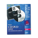 Avery AVE5697 Laser Cd Labels, Matte White, 250/pack