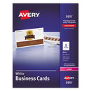 AVERY-DENNISON AVE5911 Printable Microperf Business Cards, Laser, 2 X 3 1/2, White, Uncoated, 2500/box