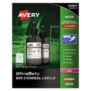 Avery AVE60506 Ultraduty Ghs Chemical Labels, 2 X 2, White, 600/box